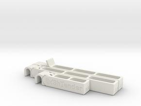 Exshtender Set in White Natural Versatile Plastic