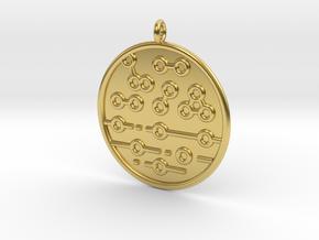 Chemistry Symbol in Polished Brass