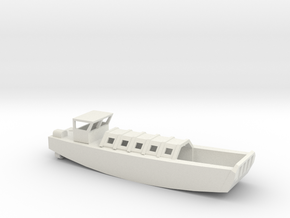 1/72 Scale British LCVP in White Natural Versatile Plastic