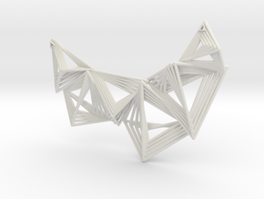 Geoneck 9.21 in White Natural Versatile Plastic