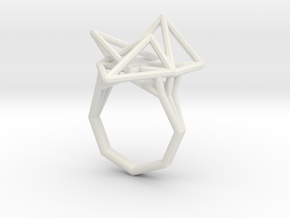 Tetryn Ring Wireframe Wide 8 in White Natural Versatile Plastic