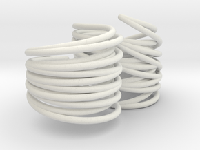 Rib Cage Double Ring 110 in White Natural Versatile Plastic