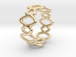 Ring 12 in 14k Gold Plated Brass