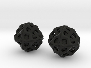 Symmetrical Orb Earrings in Black Natural Versatile Plastic