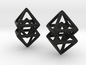 Duel Octahedron in Black Natural Versatile Plastic