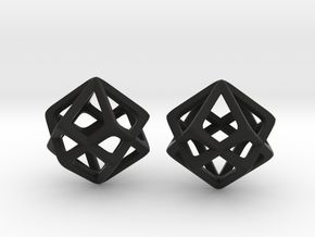 Star Cube in Black Natural Versatile Plastic