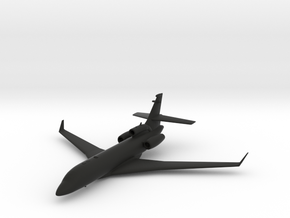 Dassault Falcon 7X in Black Natural Versatile Plastic: 1:200