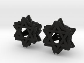 Star Bloom in Black Natural Versatile Plastic