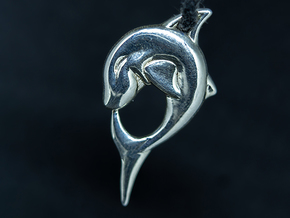 ❤ Shark in Polished Silver