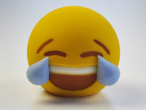 3D Emoji Laugh 'Til You Cry in Full Color Sandstone