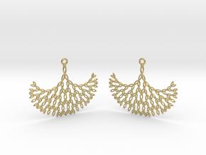 GT Earrings in Natural Brass