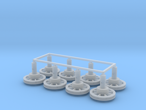 """O IBeam  Pulley V4 3/4"""" 8ea in Smooth Fine Detail Plastic"""