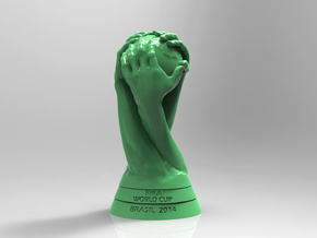 FIFA World Cup Brasil 2014 Logo Cup Design 10cm in Green Processed Versatile Plastic