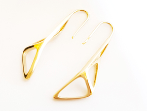 sWINGS Soft Structura, Earrings in 14K Yellow Gold