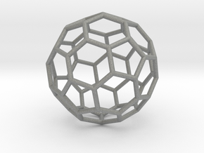 0624 Fullerene c60-ih - Model for the BFI (Bulk) in Gray Professional Plastic