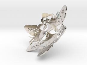 Butterfly Bowl 1 - d=9cm in Platinum