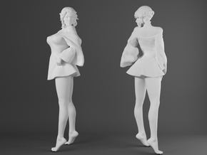 Skirt Girl-008-scale 1/32 in Smoothest Fine Detail Plastic