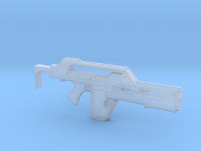 pulse rifle in 1:6 scale in Smooth Fine Detail Plastic