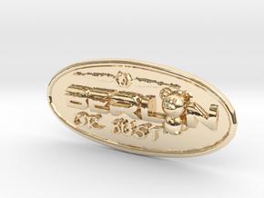 Oval-Bär-bust-rand in 14k Gold Plated Brass