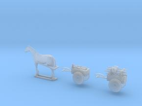 1/144 Infanteriekarren with horse in Smooth Fine Detail Plastic