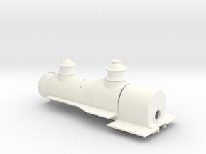 Wagontop Boiler for the BLI On30 C-16 in White Processed Versatile Plastic