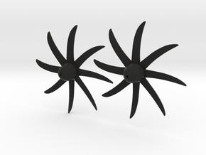 E2D Propellor (set of 2) for Japan 1/100 Scale mod in Black Natural Versatile Plastic
