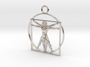 vitruvian man 5cm in Platinum