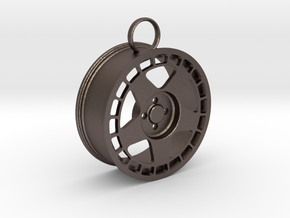Fifteen52 Turbomatic wheel keychain in Polished Bronzed-Silver Steel