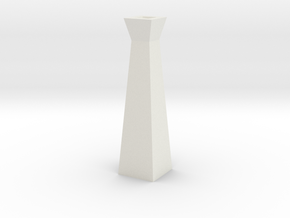 GeoVase Small in White Natural Versatile Plastic