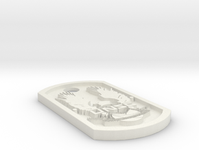 UNSC Halo Themed Dog Tag in White Natural Versatile Plastic
