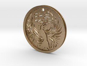 Kaizen(改善) Phoenix Pendant in Polished Gold Steel