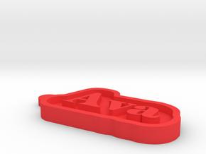 Ava Name Tag in Red Processed Versatile Plastic