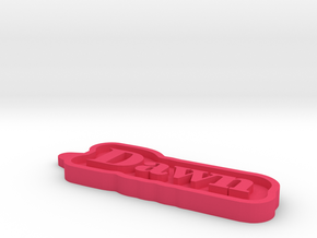Dawn Name Tag in Pink Processed Versatile Plastic