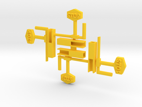 4-Car Holder in Yellow Processed Versatile Plastic