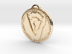 Hand of Argus Faction Medallion in 14k Gold Plated Brass