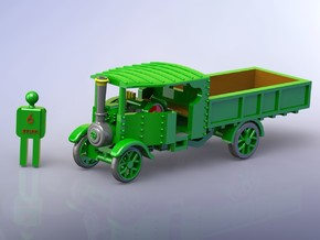 Foden Steam Lorry 1916 1/200 in Smooth Fine Detail Plastic