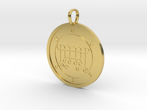 Gusion Medallion in Polished Brass