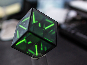 Tritium Tesseract Prototype - HyperCube in Black Natural Versatile Plastic