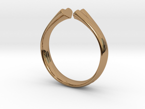 I Love You 18mm in Polished Brass