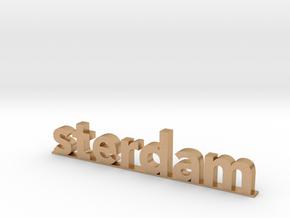 I amsterdam (2/2) in Natural Bronze (Interlocking Parts)