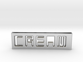 C.R.E.A.M. Moneyclip...so that Cash never dies OUT in Polished Silver