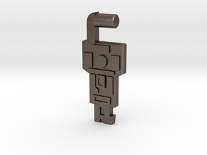 Key to Vector Sigma (3mm, 5mm) in Polished Bronzed-Silver Steel: Large