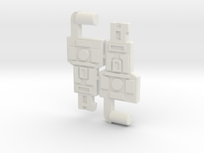 Key to Vector Sigma (3mm, 5mm) in White Natural Versatile Plastic: Large