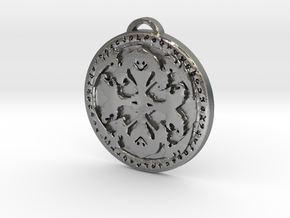 Warlock Class Medallion in Natural Silver