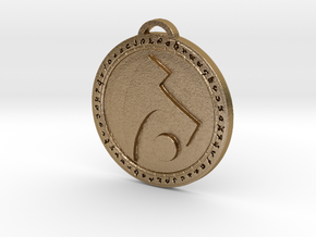 Draenei Faction Medallion (Original) in Polished Gold Steel