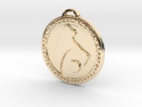 Draenei Faction Medallion (Original) in 14k Gold Plated Brass