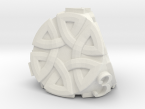 Celtic D4 Alternative - Solid Centre for Plastic in White Natural Versatile Plastic