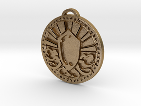 Priest Class Medallion in Polished Gold Steel