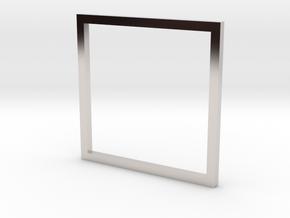Square 15.70mm in Platinum
