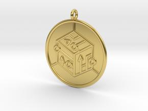 logic Symbol in Polished Brass